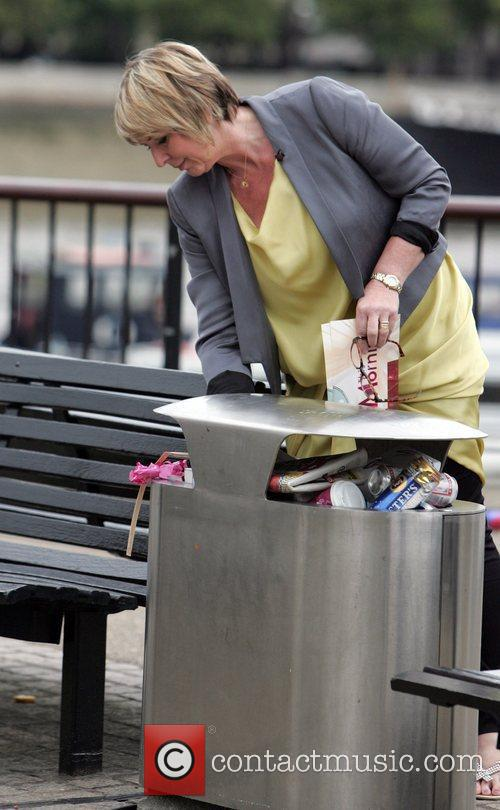 Fern Britton during a break from filming for...
