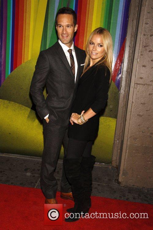 Chris Diamantopoulos and Becki Newton Opening night of...