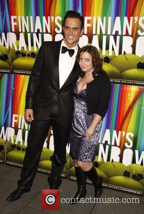 Cheyenne Jackson with Rachel Dratch Opening night after...