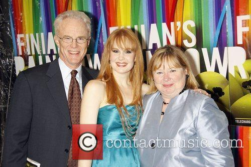 Kate Baldwin and her parents Opening night after...