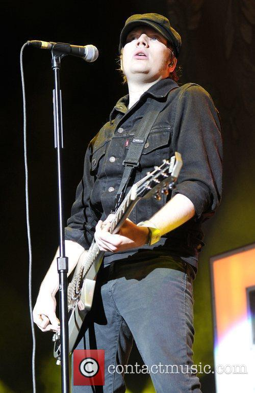 Patrick Stump of Fall Out Boy performs at...