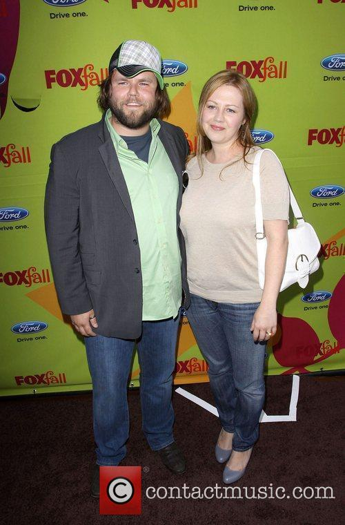 Tyler Labine, His Wife and Carrie Ruscheinsky