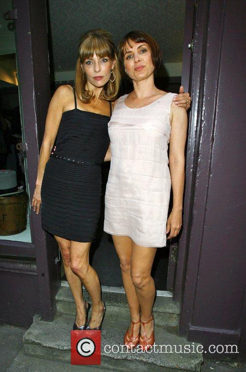 Jemima French and Sadie Frost poses for photographs...