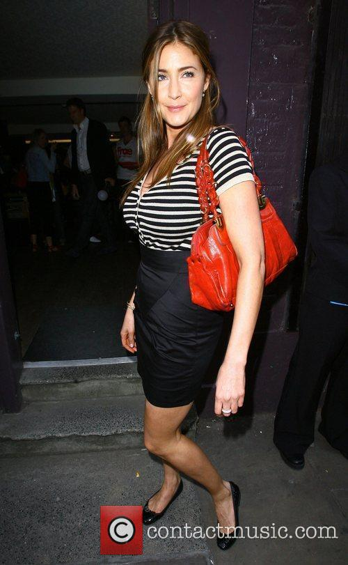 Lisa Snowdon poses for photographs outside the 'FrostFrench'...