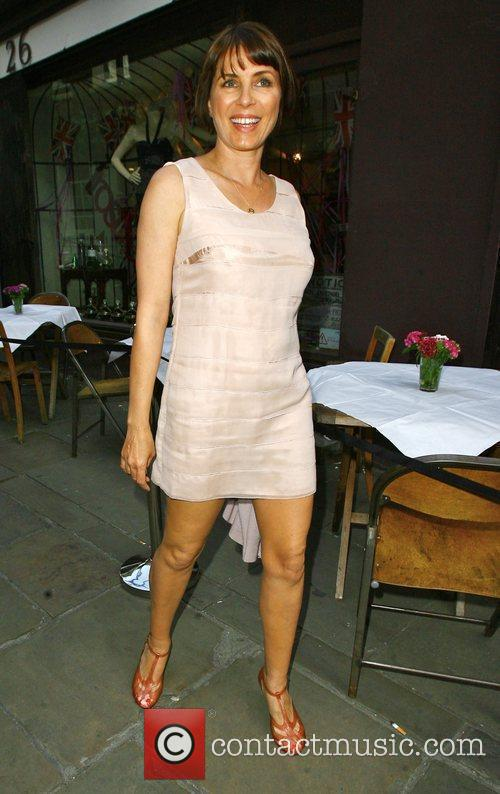 Sadie Frost poses for photographs outside the 'FrostFrench'...