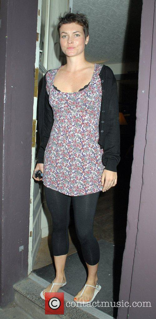 Holly Davidson outside the 'FrostFrench' summer drinks soiree...