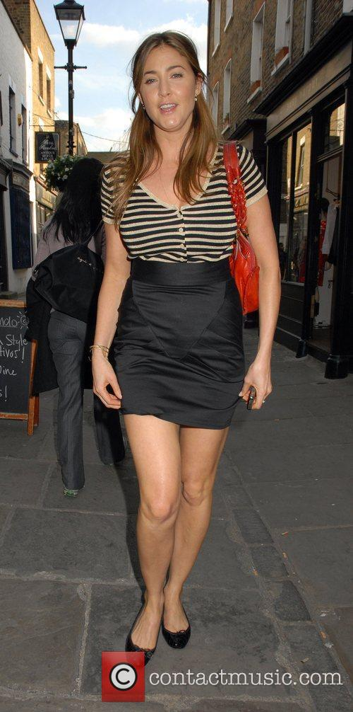 Lisa Snowdon outside the 'FrostFrench' summer drinks soiree...