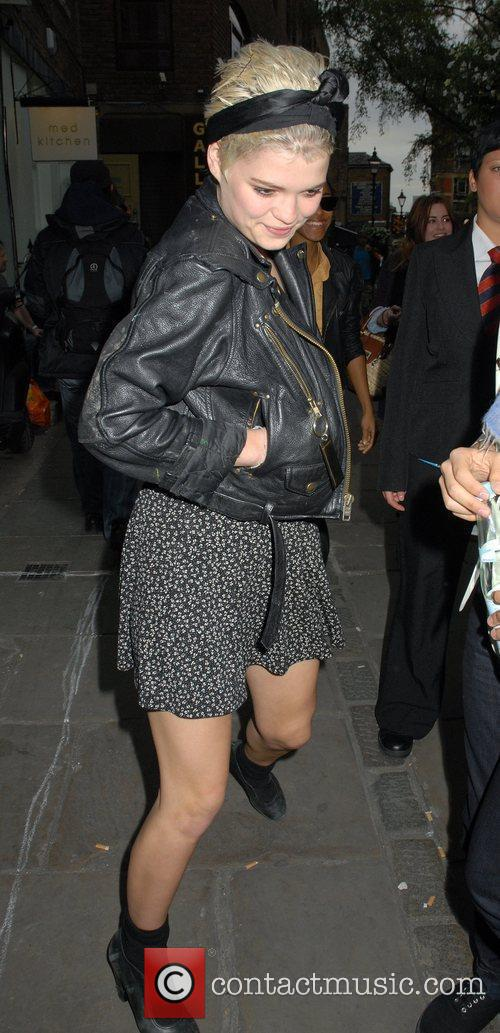Pixie Geldof outside the 'FrostFrench' summer drinks soiree...