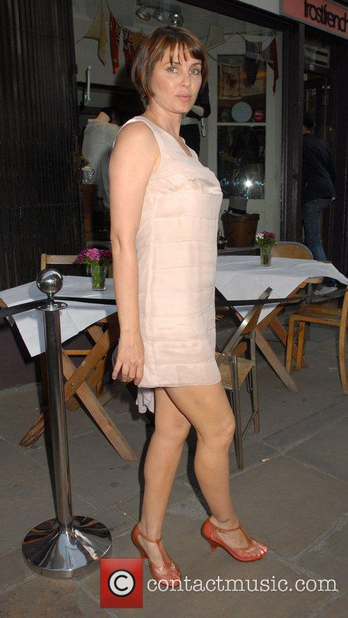 Sadie Frost outside the 'FrostFrench' summer drinks soiree...