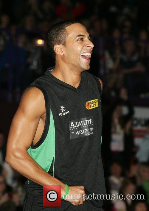 Marvin Humes of JLS Funk and Dunk celebrity...
