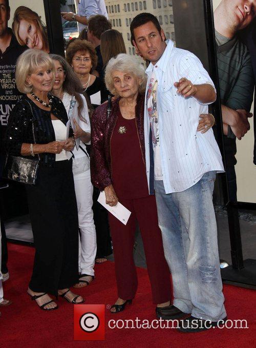 Adam Sandler with his grandmother LA premiere of...