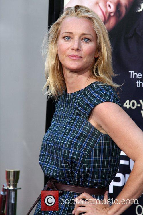 Angie Featherstone LA premiere of 'Funny People' at...