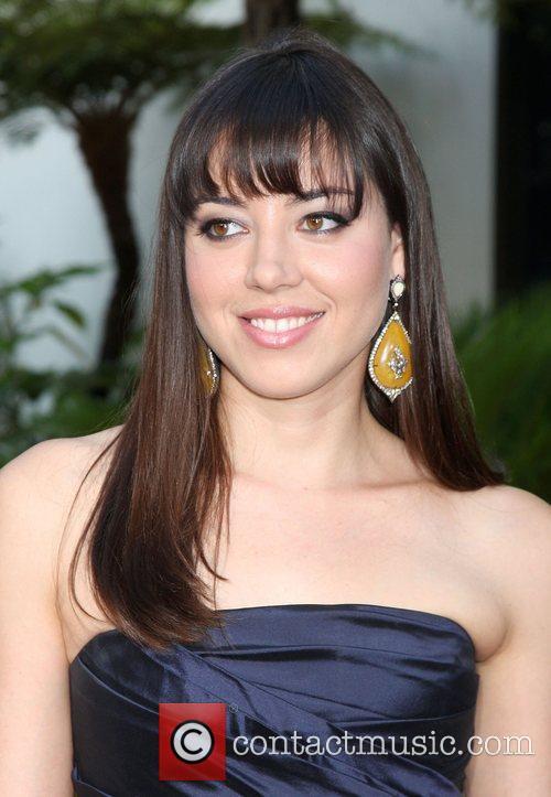 Aubrey Plaza LA premiere of 'Funny People' at...