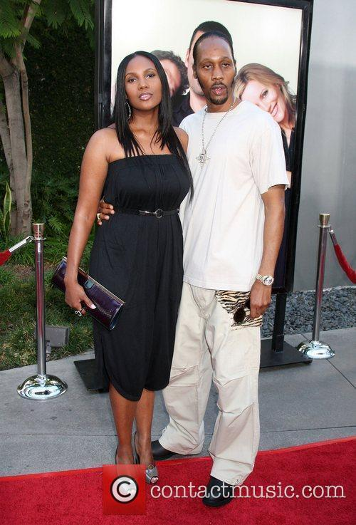 Rza LA premiere of 'Funny People' at the...