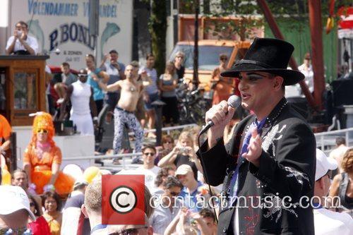 Boy George Gay Pride Weekend 2009 celebrations. Amsterdam,...