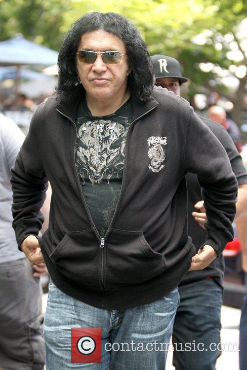 Gene Simmons 'Kiss' frontman arriving at Comic-Con 2009...