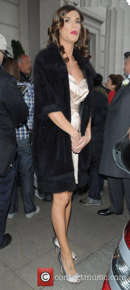 George Clooney's girlfriend Elisabetta Canalis outside the Mayfair...