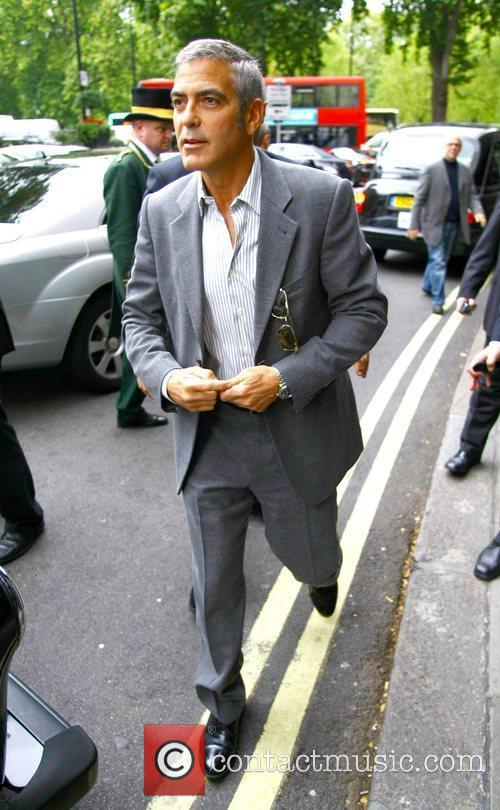 Leaving his London hotel