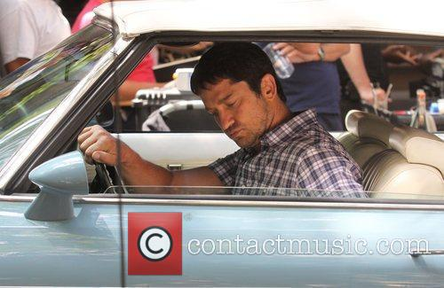 Gerard Butler  on the set of his...