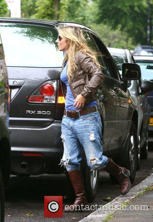 Geri Halliwell out and about in north London...