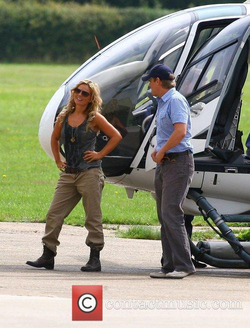 Taking flying lessons in a helicopter