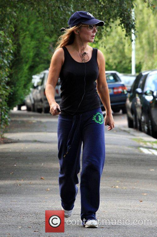 Geri Halliwell out walking near her home London,...