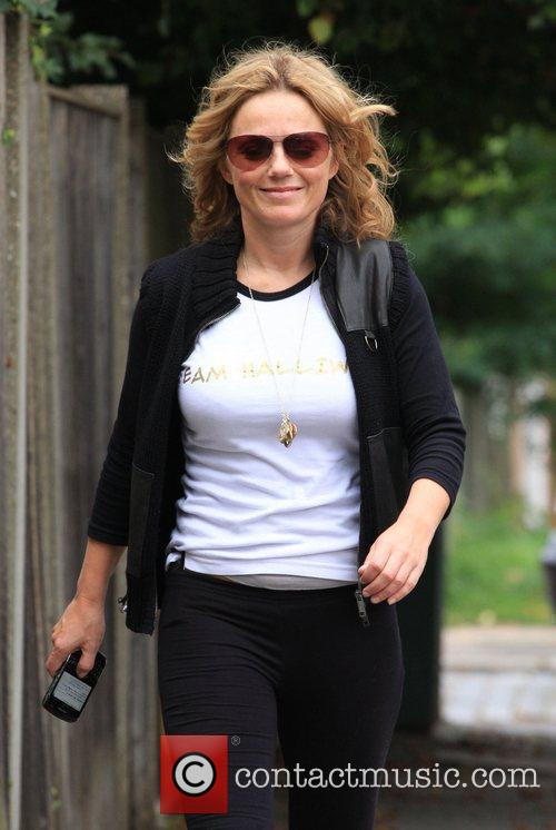 Geri Halliwell  returning home after an early...