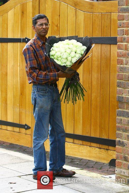 Flowers are delivered to Geri Halliwell's house on...