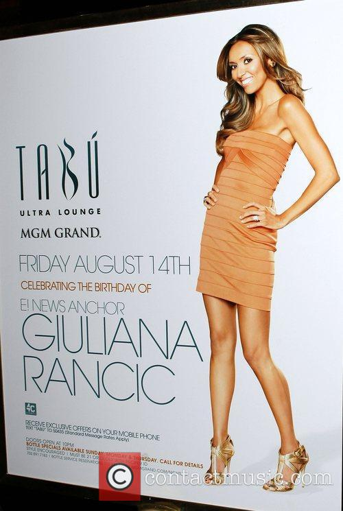 Atmosphere Giuliana Rancic celebrates her birthday at TABU...