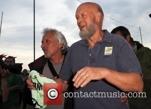 Micheal Eavis  makes an appearance at the...