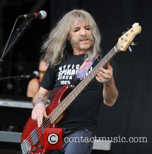 Derek Smalls performing with Spinal Tap at Glastonbury