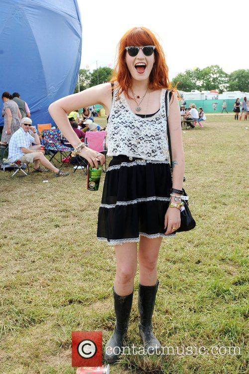 Florence backstage during the 2009 Glastonbury Festival -...