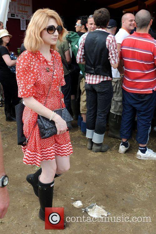 Nicola Roberts backstage during the 2009 Glastonbury Festival...