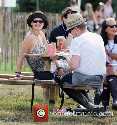 Backstage during the 2009 Glastonbury Festival - Day...