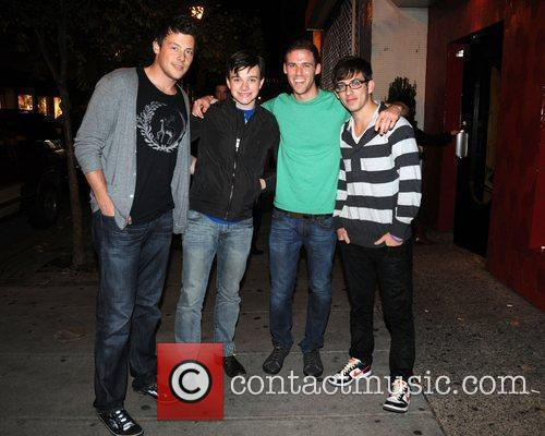Cory Monteith, Chris Colfer and Kevin McHale from...