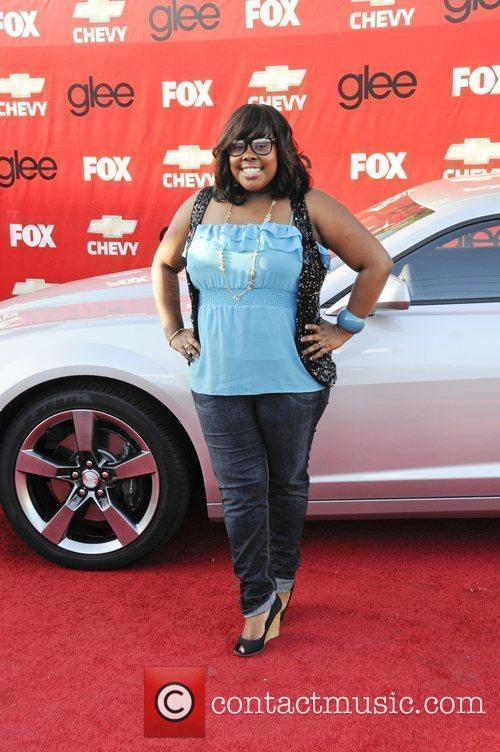 Amber Riley attends the premiere of Fox's 'Glee'...
