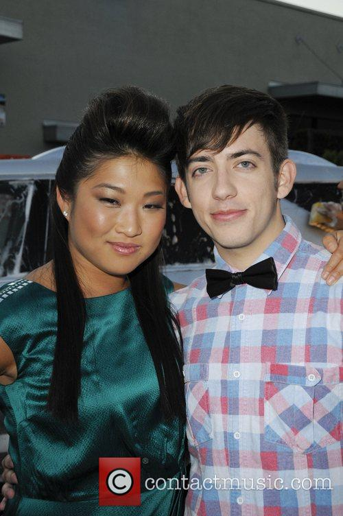 Jenna Ushkowitz and Kevin McHale attends the premiere...