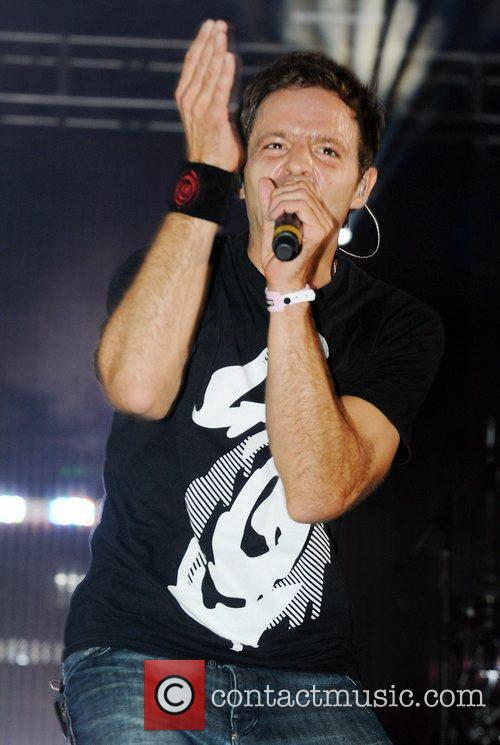 Pendulum perform live on stage at Global Gathering...