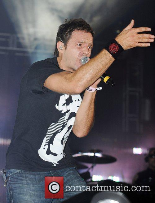 pendulum perform live on stage at global gathering held at long marston airfield 2518982
