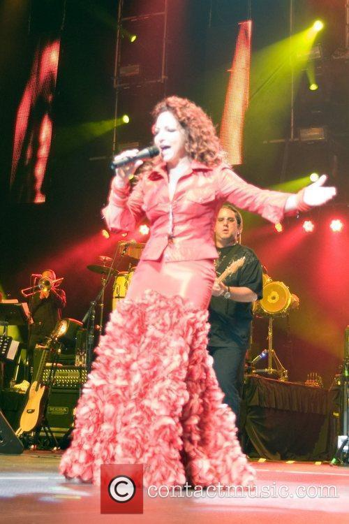 Latin Singer Gloria Estefan  performs live for...