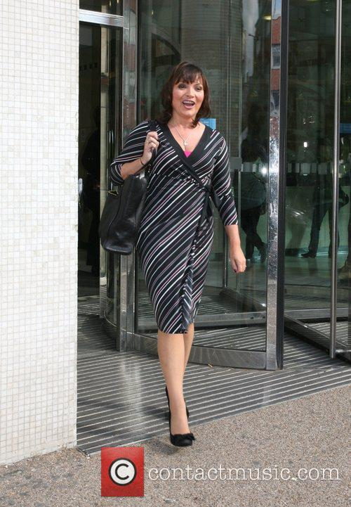 Lorraine Kelly at the GMTV studios