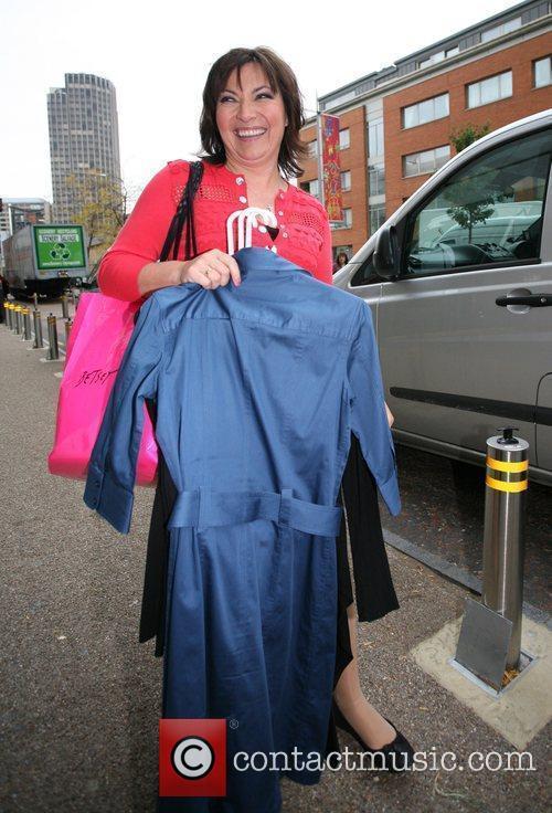 Lorraine Kelly leaves the GMTV studios London, England