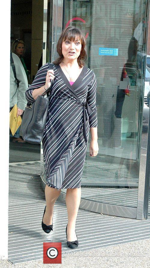 Lorraine Kelly outside the GMTV Studios London, England