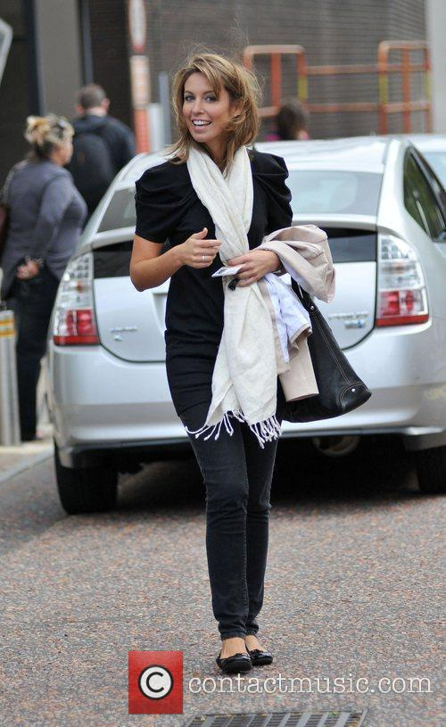Emma Crosby leaving the GMTV studios London, England