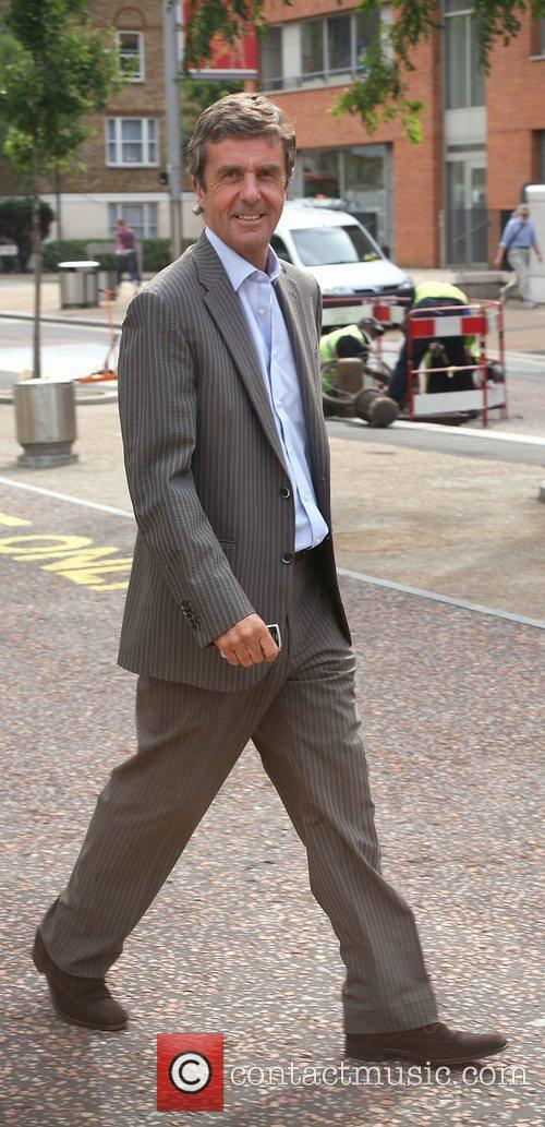 John Stapleton leaving the London studios after appearing...