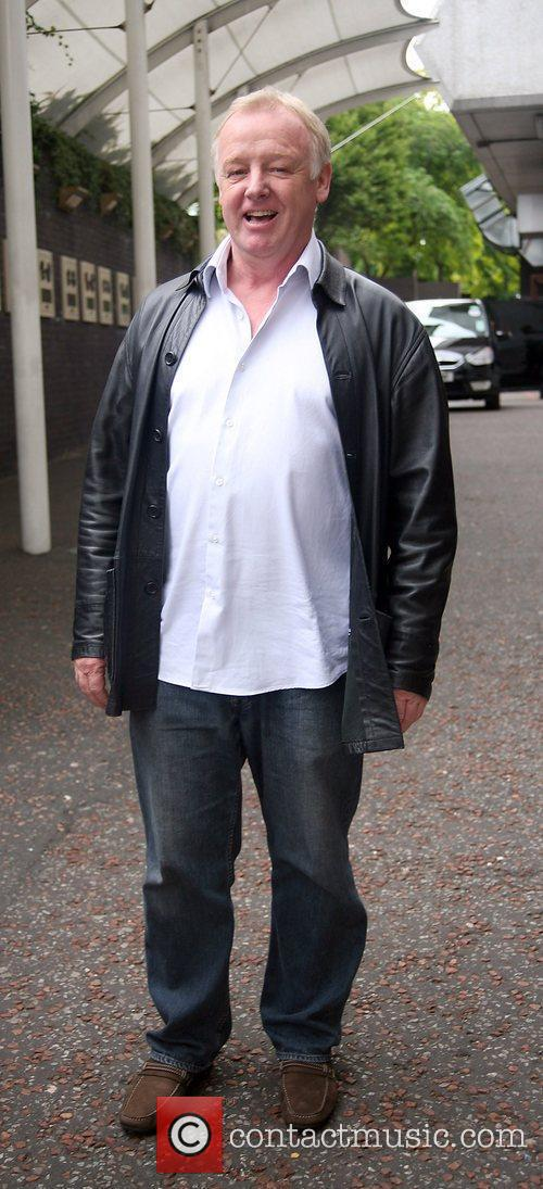 Les Dennis leaving the London studios after appearing...