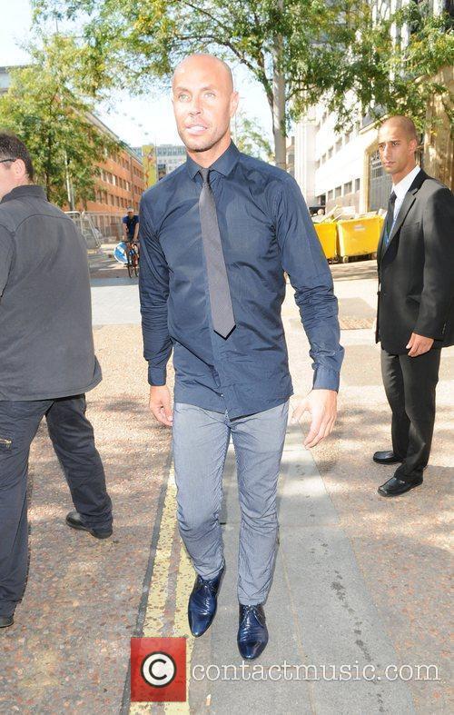Jason Gardiner leaving the 'GMTV' studios London, England