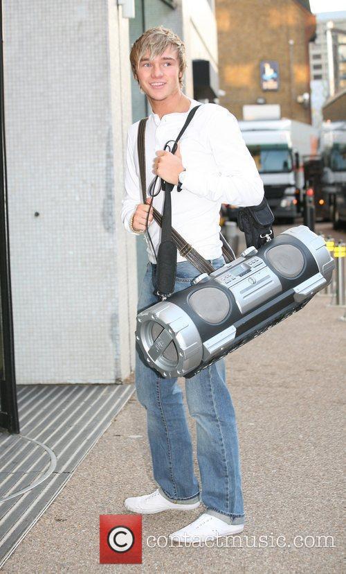'X Factor' finalist Lloyd Daniels outside the 'GMTV'...