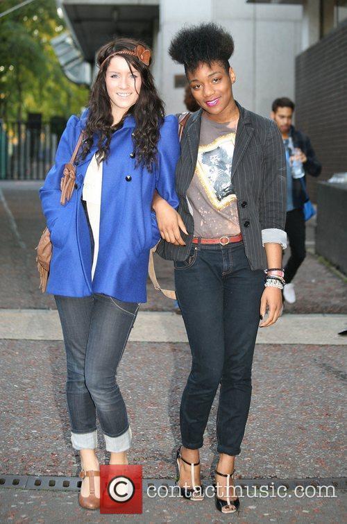 'X Factor' finalists Lucie Jones and Graziella Aiffinita...