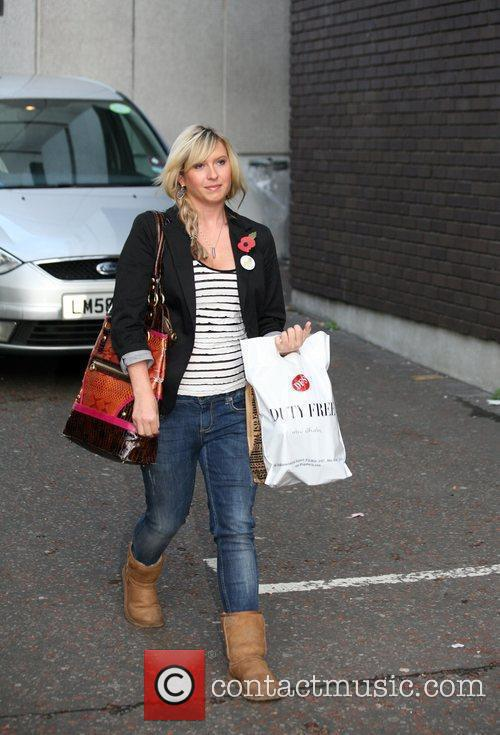 Brooke Kinsella leaving the London studios after appearing...